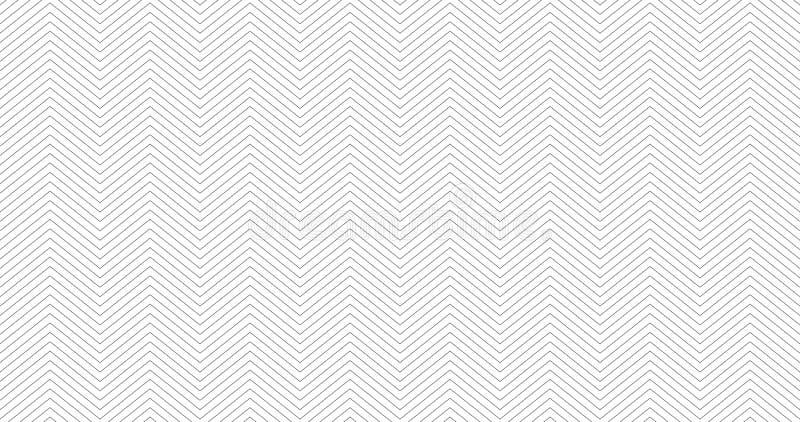 Zickzack Texturhintergrunddesign Nahtloses Muster des einfachen Sparrens E lizenzfreie abbildung
