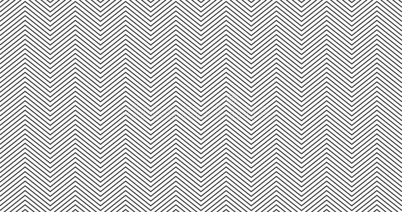 Zickzack Texturhintergrunddesign Nahtloses Muster des einfachen Sparrens E stock abbildung