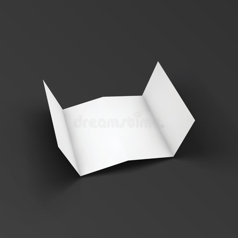 Zickzackbroschüre gefaltet auf vier Teilen vektor abbildung