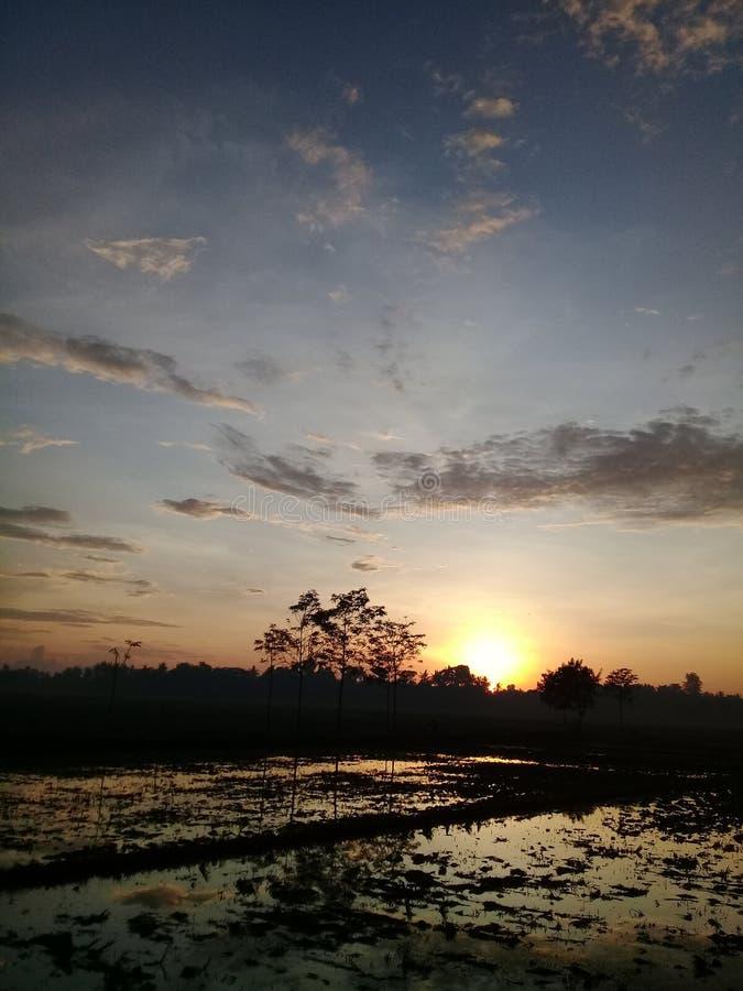 Zie de zonsopgang stock foto