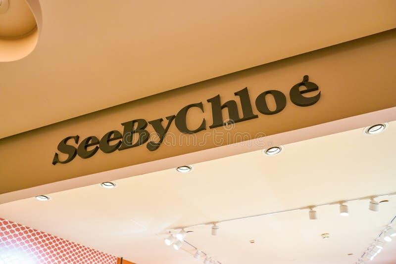 Zie door Chloe stock foto