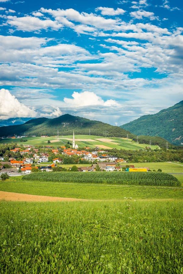 Zie gemeente in Oostenrijk stock afbeeldingen