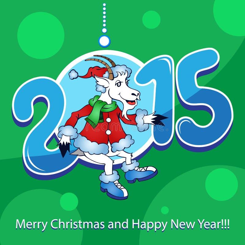 Ziege - Symbol 2015 - Illustration lizenzfreies stockfoto