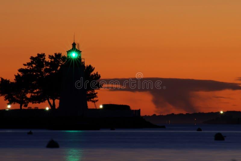 Ziegeinselleuchtturm Newport lizenzfreie stockfotografie