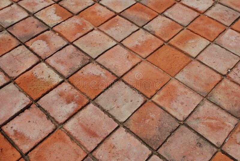 Ziegelstein-Fußboden lizenzfreie stockfotos
