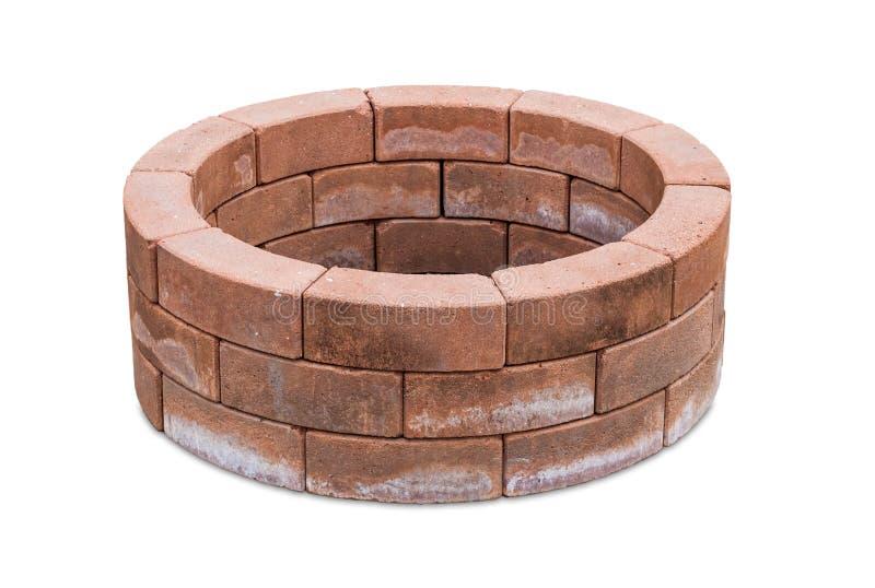 Ziegelstein gelegt in einen Kreis. lizenzfreie stockfotos