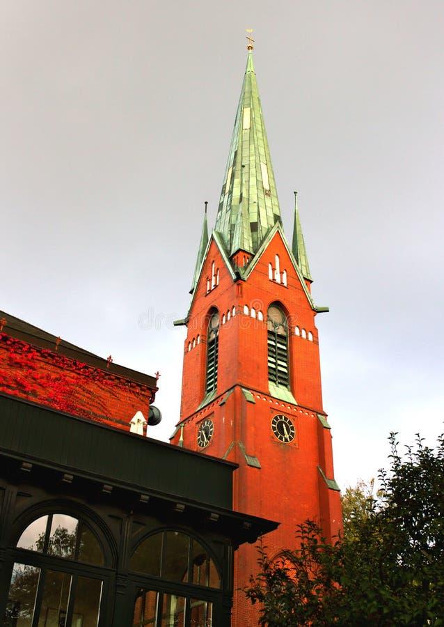 Ziegelstein gotisches - Kirche - I - Hamburg - Deutschland lizenzfreie stockfotografie