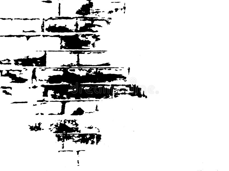 Ziegelstein-Schwarzweiss-Abbildung lizenzfreies stockfoto