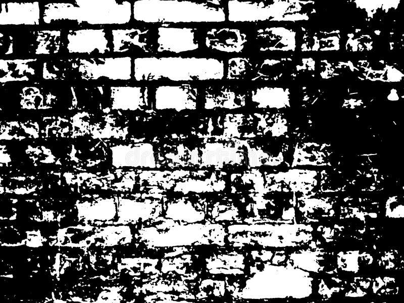 Ziegelstein-Schwarzweiss-Abbildung stockfotografie