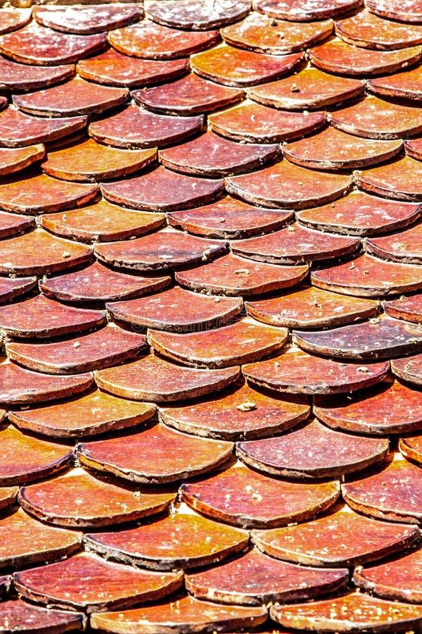 Ziegelsteindachplatten stockbild