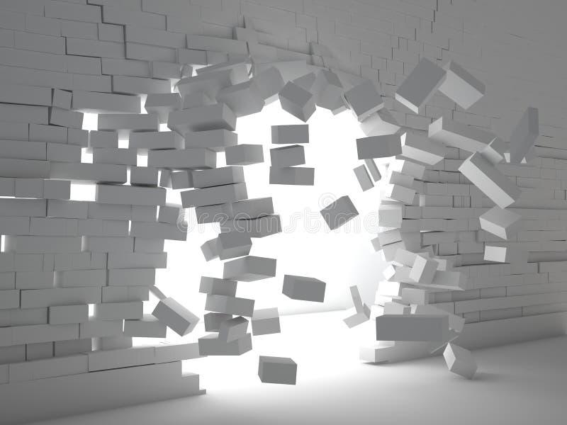 Ziegelsteinexplosion vektor abbildung