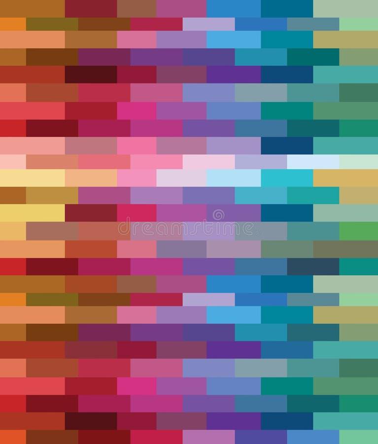 Ziegelsteinfarbenmuster durch pixcel Auslegung lizenzfreie abbildung