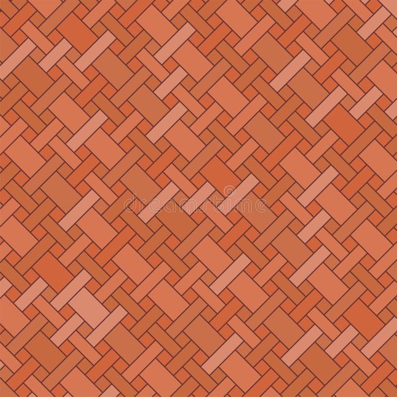 Ziegelsteinfußboden lizenzfreie abbildung