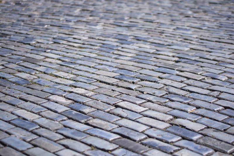 Ziegelsteinstraße lizenzfreie stockfotografie