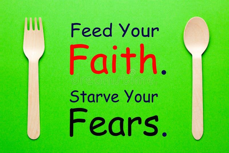 Ziehen Sie Ihren Glauben ein stockfotos