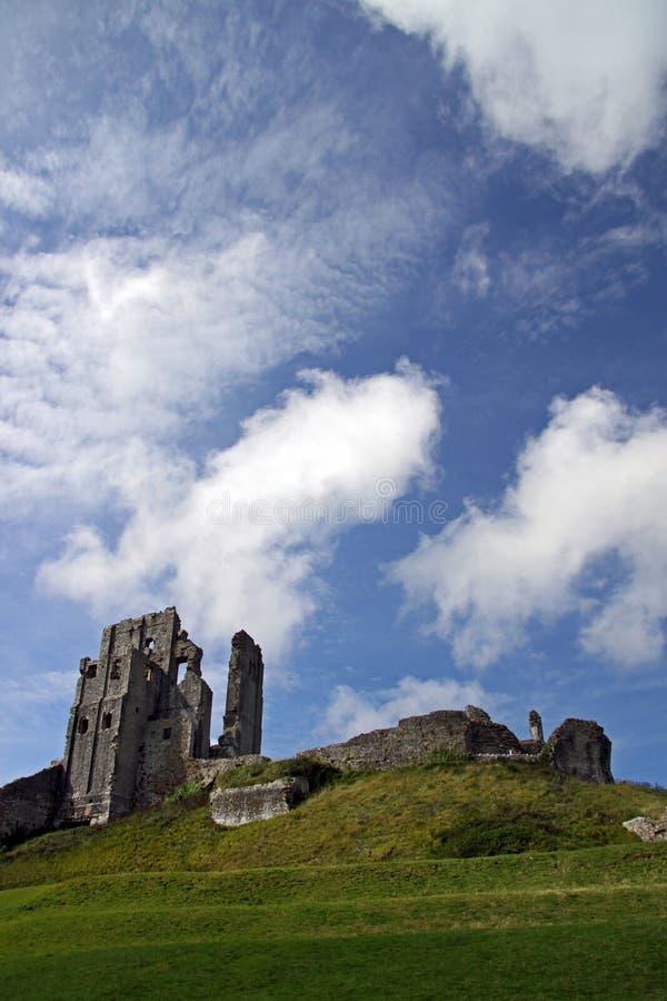 Ziehen Sie sich alte Ruinen des Forts zurück stockbild
