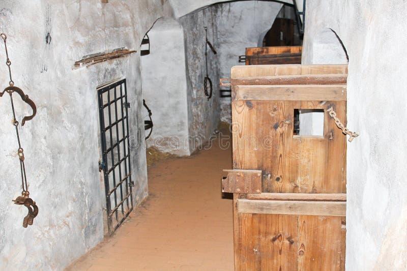 2017-09-01 - ziehen Sie sich Loket, Tschechische Republik, Ausstellung der Folterung zurück stockfotografie