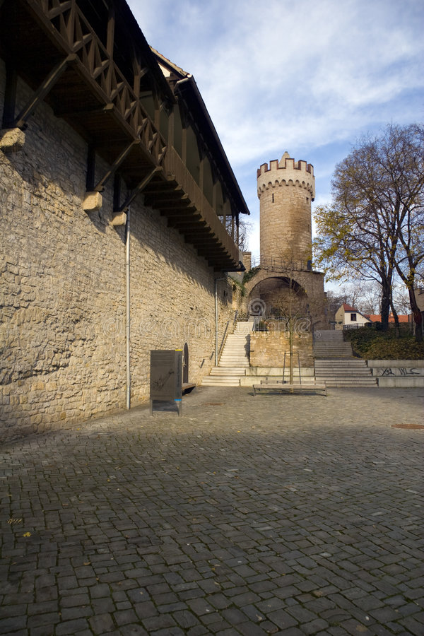 Ziehen Sie sich Pulverturm Jena zurück stockfoto