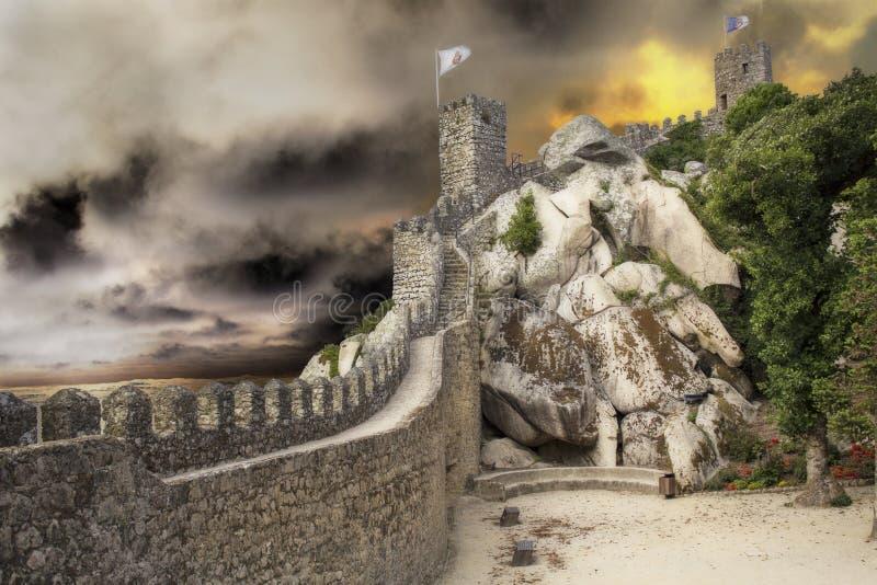 Ziehen Sie sich Ruinen zurück lizenzfreie stockbilder