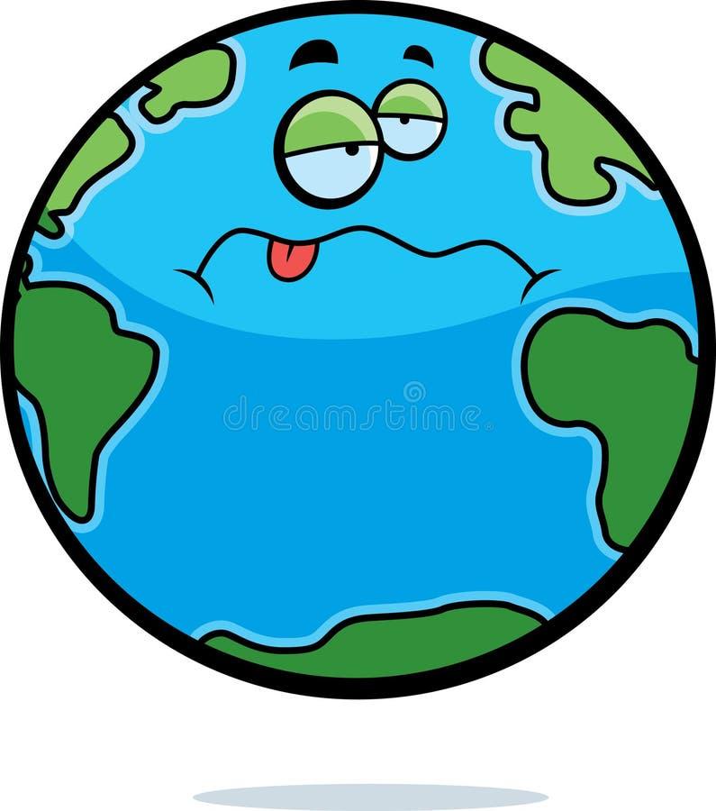Zieke Aarde royalty-vrije illustratie