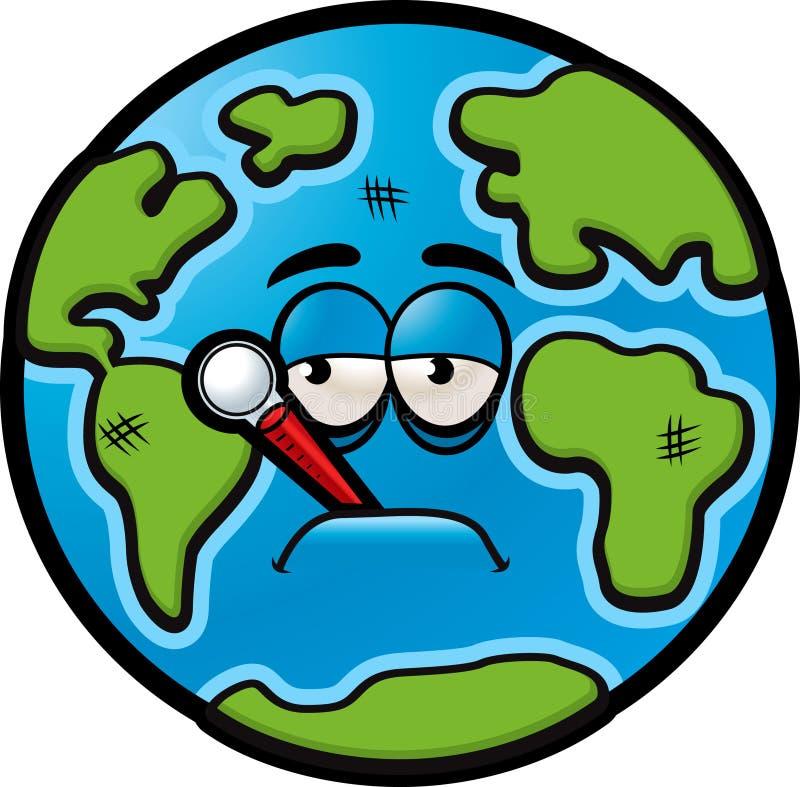 Zieke Aarde vector illustratie