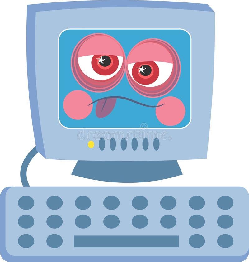Zieke Computer vector illustratie