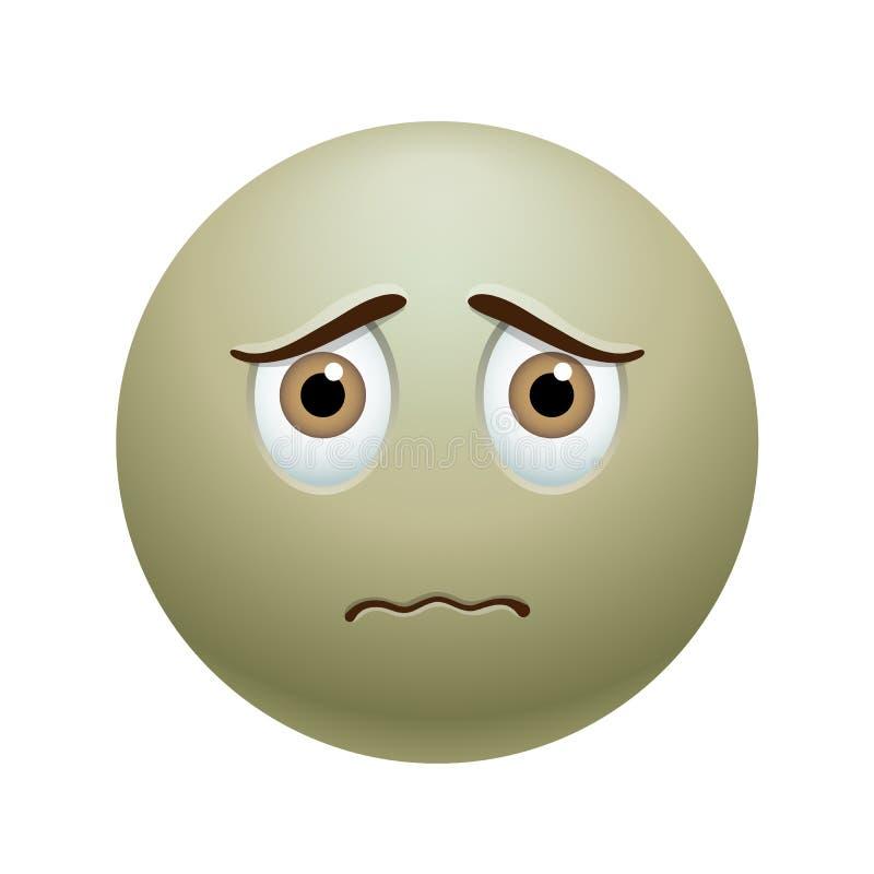 Zieken emoticon vector illustratie