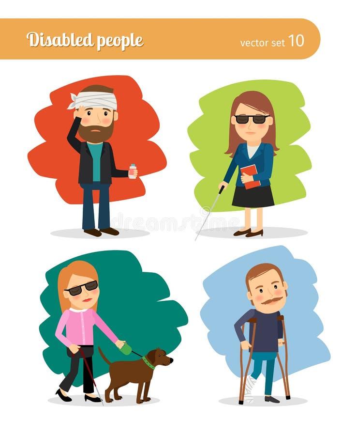 Zieken en gehandicapten vector illustratie