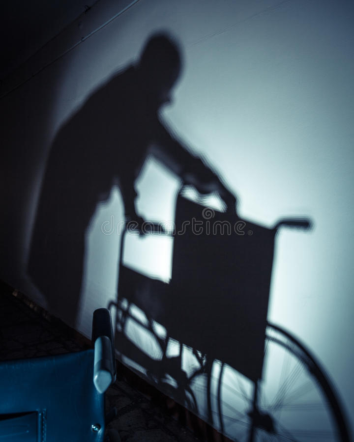 Zieken en rolstoel royalty-vrije stock foto's
