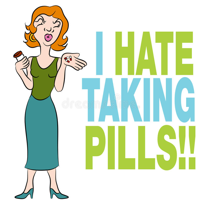 Zieken van Pillen stock illustratie
