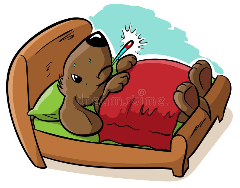 Zieken weinig puppy vector illustratie