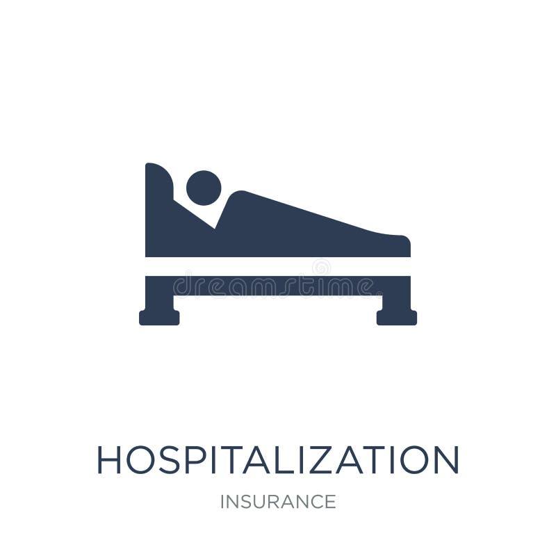 Ziekenhuisopnamepictogram  royalty-vrije illustratie