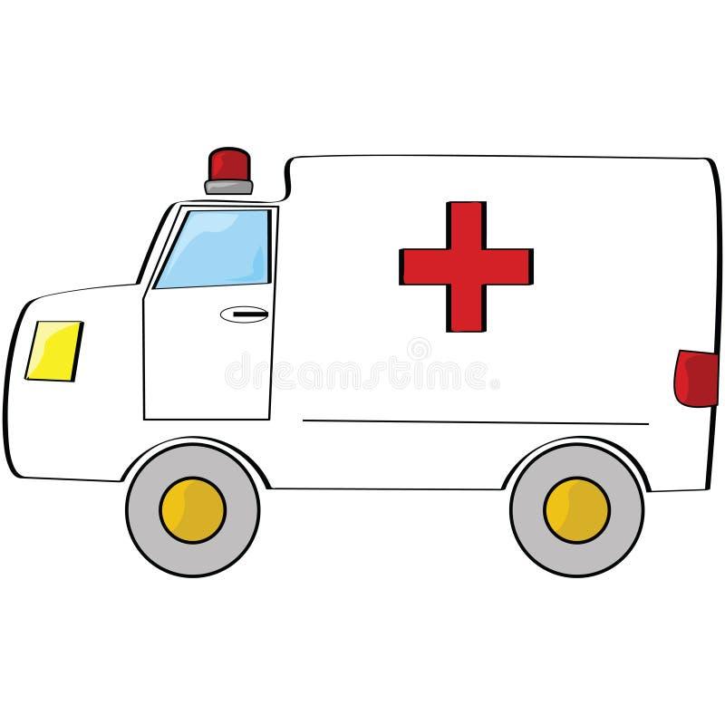 Ziekenwagen stock illustratie