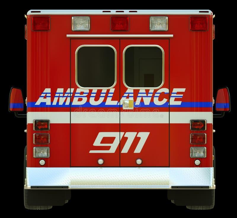 Ziekenwagen: Achtermening van hulpdienstenvoertuig stock foto