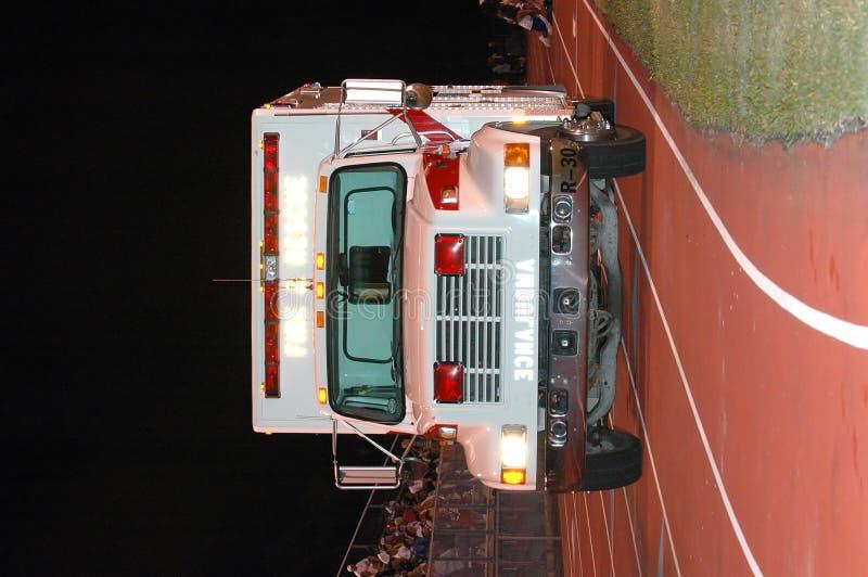 Ziekenwagen bij sportengebeurtenis stock fotografie