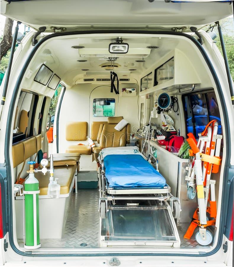 Ziekenwagen binnen stock fotografie