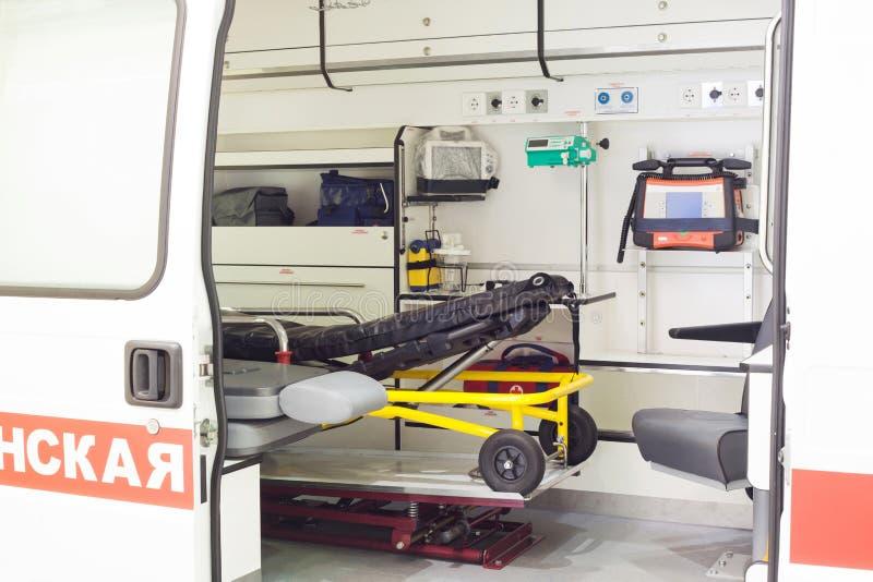 Ziekenwagen binnen stock foto