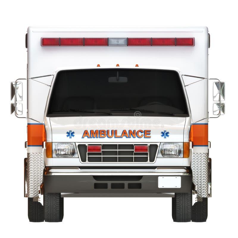 Ziekenwagen op een witte achtergrond stock afbeeldingen