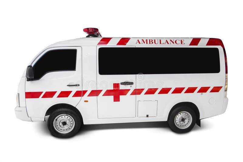 Ziekenwagen op witte achtergrond stock foto's