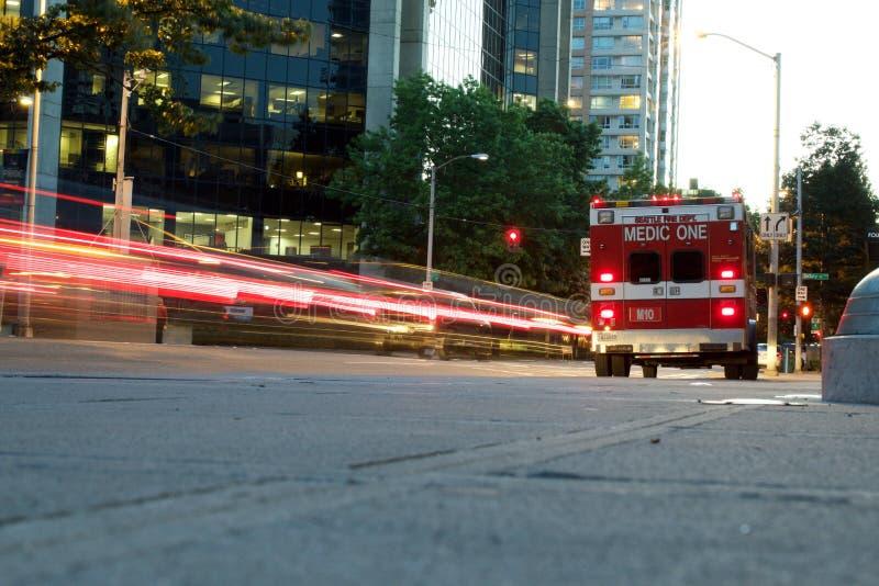 Ziekenwagen in Seattle stock afbeeldingen