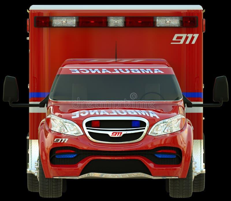 Ziekenwagen: Vooraanzicht van hulpdienstenvoertuig royalty-vrije stock foto's