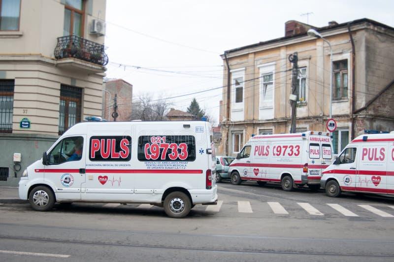 Ziekenwagenauto's stock foto