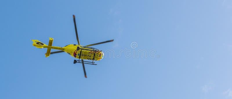 Ziekenwagenhelikopter Medische Luchthulp stock foto