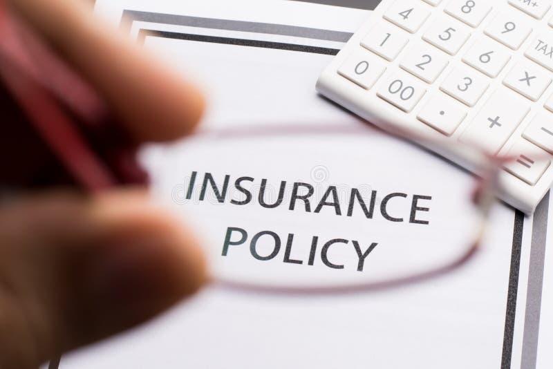 Ziektekostenverzekeringbeleid royalty-vrije stock afbeelding