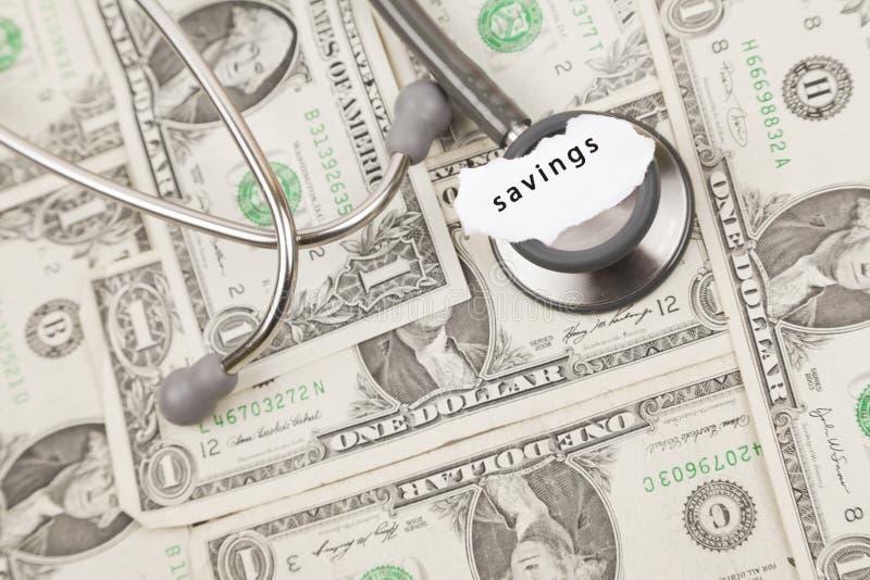 Ziektekostenverzekeringbesparingen royalty-vrije stock foto's