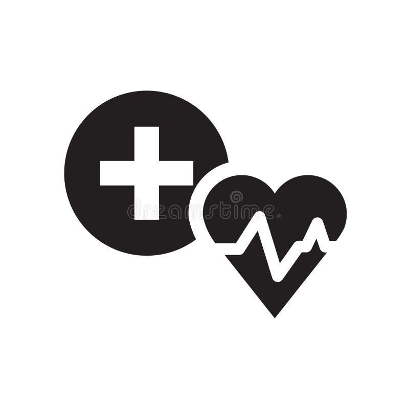 Ziektekostenverzekeringpictogram  royalty-vrije illustratie