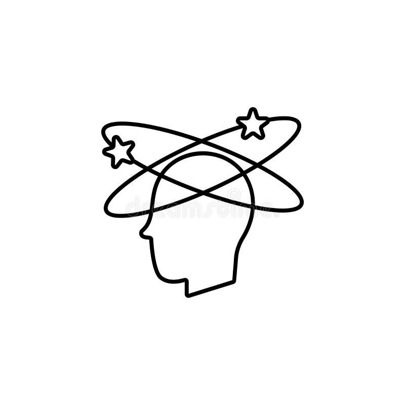 Ziekten, hersenen, geneeskundevector r royalty-vrije illustratie