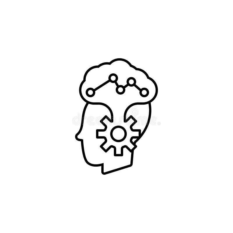 Ziekten, hersenen, psychiatrievector r royalty-vrije illustratie