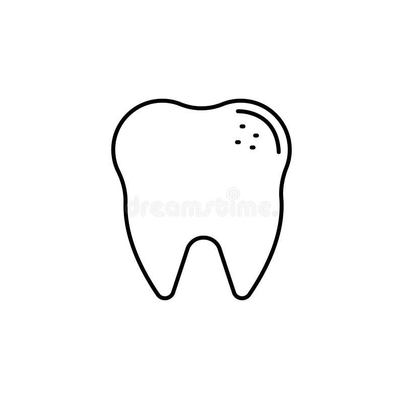 Ziekten, tandvector r stock illustratie
