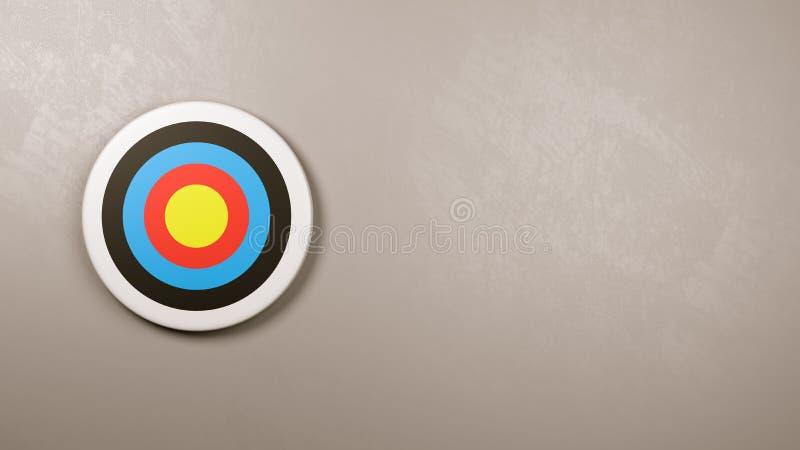 Ziel auf der Wand mit Kopien-Raum lizenzfreie abbildung
